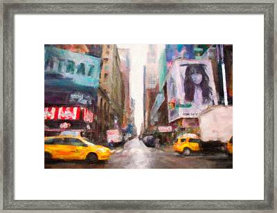 Canvas Roads Framed Print by Emmanouil Klimis
