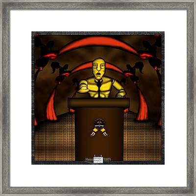 Canvass Framed Print by Eloy Tamez olguin