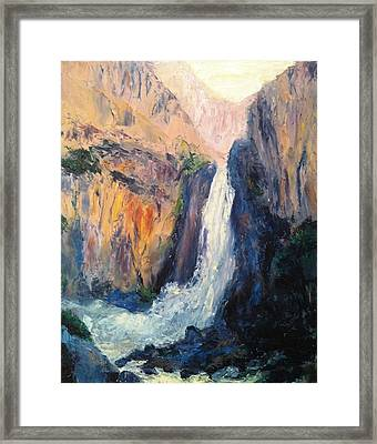 Canyon Blues Framed Print