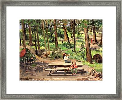 Canyon Campground - Yellowstone  1950's Framed Print