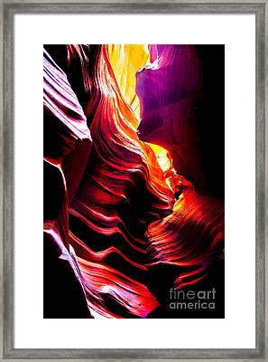 Canyon Cascade Framed Print by Az Jackson