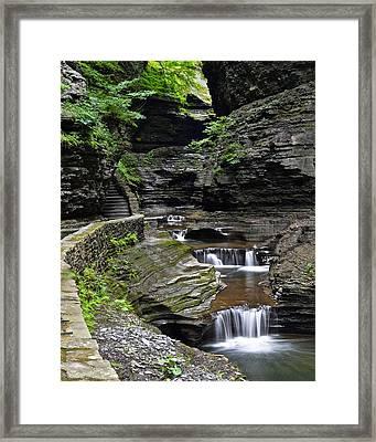 Canyon Cascade Framed Print