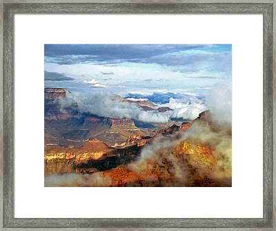 Framed Print featuring the photograph Canyon Clouds by Alan Socolik