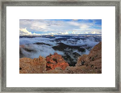 Canyon Clouds Framed Print