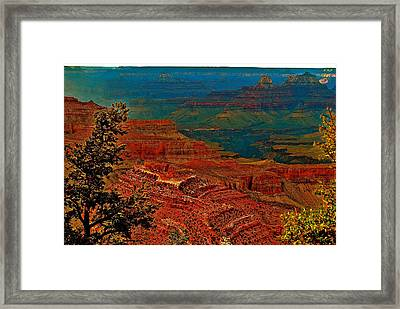 Canyon Colours Show Through Framed Print