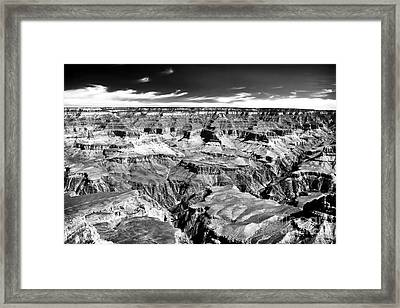 Canyon Craters Framed Print by John Rizzuto