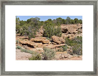 Canyon De Chelly - A Blend Of Cultures Framed Print