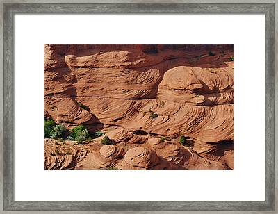Canyon De Chelly - A Fascinating Geologic Story Framed Print
