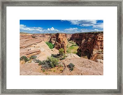 Canyon De Chelly Chinle Navajo Nation Arizona Canyon Del Muerto Framed Print by Silvio Ligutti