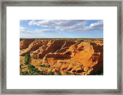 Canyon De Chelly From Face Rock Overlook Framed Print by Christine Till