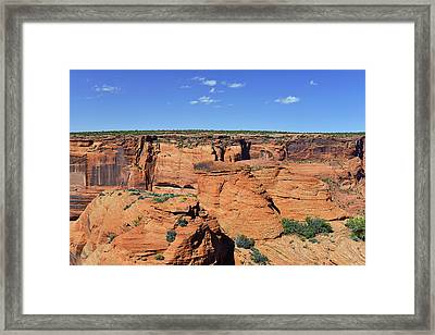 Canyon De Chelly From Sliding House Overlook Framed Print by Christine Till