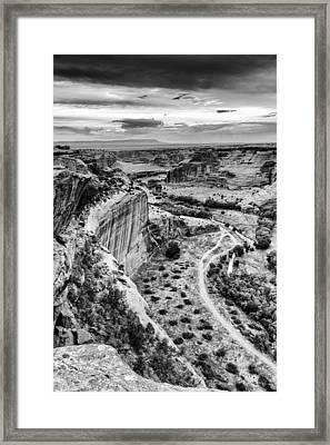 Canyon De Chelly Navajo Nation Chinle Arizona Black And White Framed Print by Silvio Ligutti