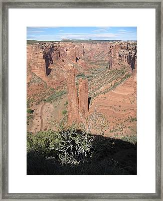 Canyon De Chelly Spider Rock Framed Print by Christiane Schulze Art And Photography