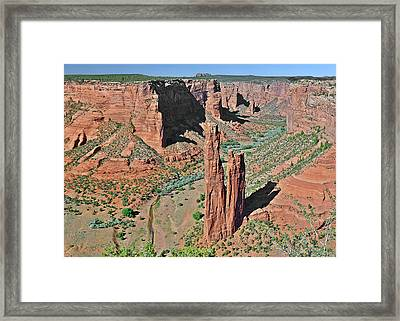 Canyon De Chelly - Spider Rock Framed Print by Christine Till