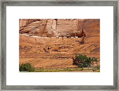 Canyon Dechelly Whitehouse Ruins Framed Print by Bob and Nadine Johnston