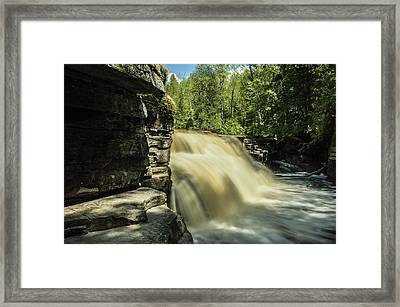 Canyon Falls Framed Print