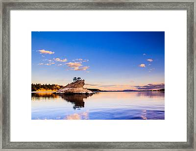 Canyon Ferry Island Framed Print by Daniel Wilde
