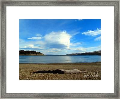 Canyon Ferry Lake Contrasts Framed Print by Matthew Peek