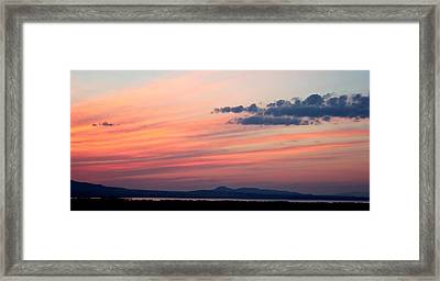 Canyon Ferry Sunset Framed Print by Corrie Knerr