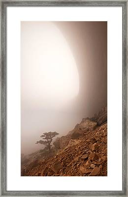 Canyon Fog Framed Print