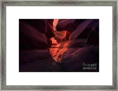 Canyon Heart Framed Print