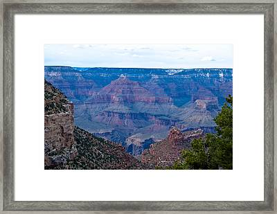 Canyon In View Framed Print by Nickaleen Neff