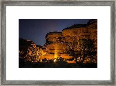 Canyon Lands Camping Framed Print