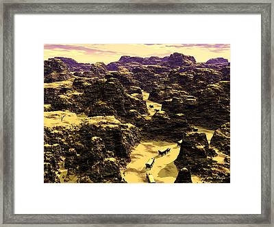 Canyon Lands Framed Print by John Pangia