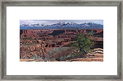 Canyon Lands Framed Print by Timithy L Gordon