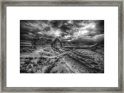 Canyon Light And Clouds Framed Print by Garett Gabriel