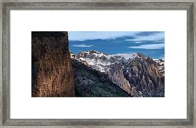 Canyon Light And Form Framed Print by Leland D Howard