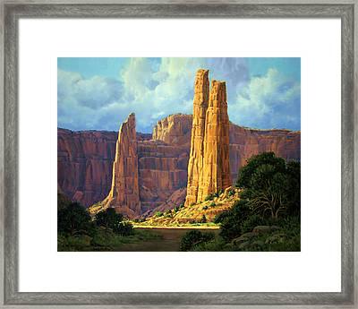 Canyon Light Framed Print by Randy Follis