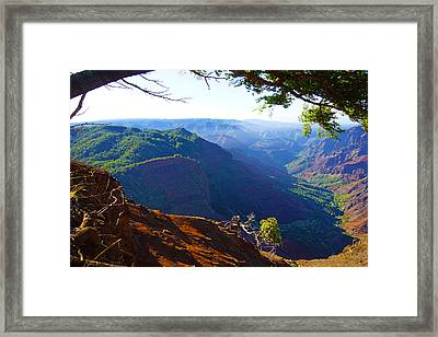Canyon Lookout Framed Print
