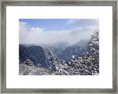 Canyon Mist Framed Print