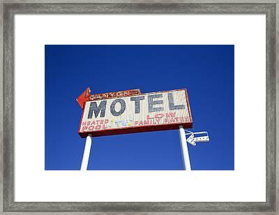 Canyon Motel Sign Framed Print