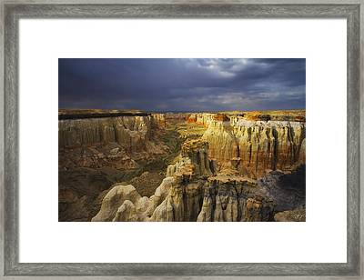 Canyon Of Color Framed Print by Peter Coskun