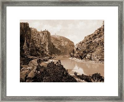 Canyon Of Eagle River, West Entrance, Colorado, Jackson Framed Print by Litz Collection