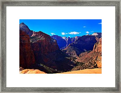 Canyon Overlook Trail Framed Print