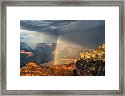 Canyon Rainbow Framed Print by Guy Schmickle