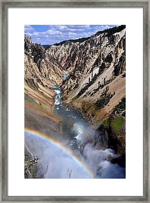 Canyon Rainbow Framed Print