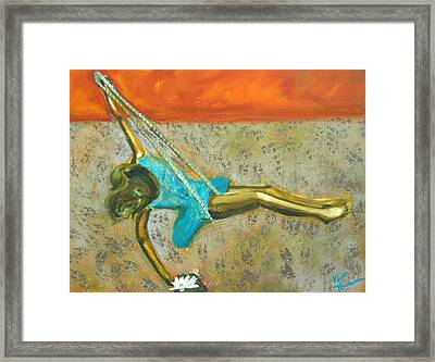 Canyon Road Sculpture Framed Print