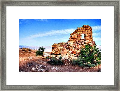 Canyon Rocks Framed Print by Mel Steinhauer