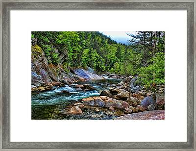 Framed Print featuring the photograph Canyon Run by David Stine