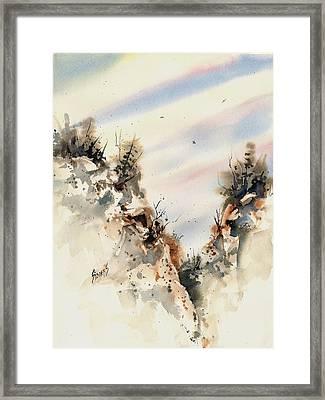 Canyon Framed Print by Sam Sidders