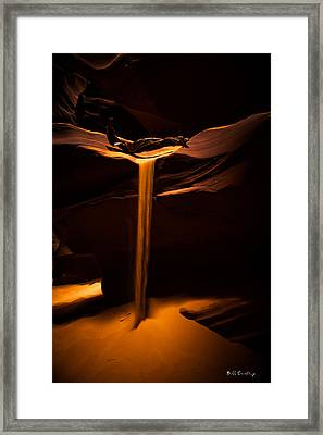 Canyon Sand From Above Framed Print by Bill Cantey