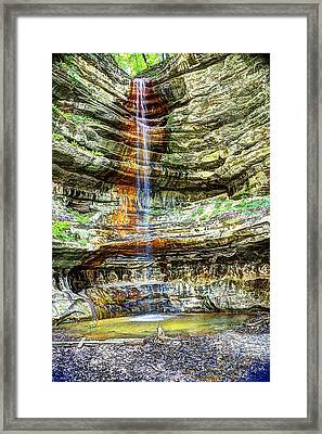 Canyon Starved Rock State Park Framed Print