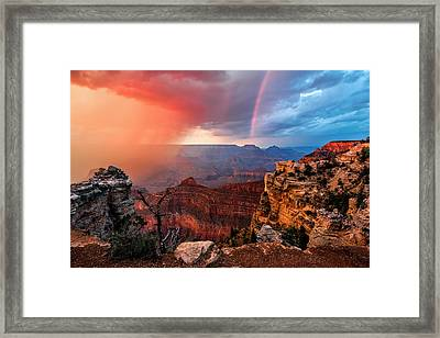 Canyon Storm Framed Print by Guy Schmickle