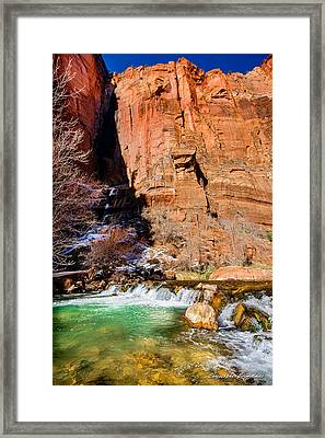 Canyon Stream Framed Print by Christopher Holmes