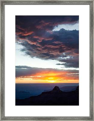 Canyon Sunset Framed Print by Dave Bowman