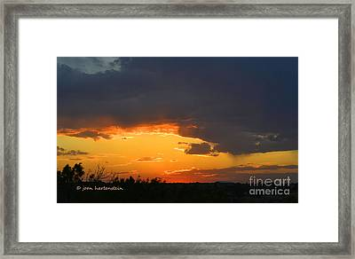 Canyon Sunset Framed Print